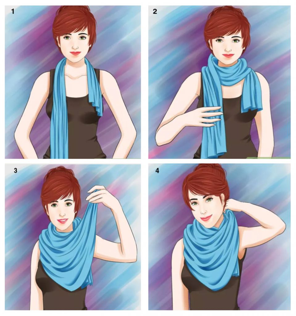 Waterfall style - 7 ways to style your Pashmina scarf