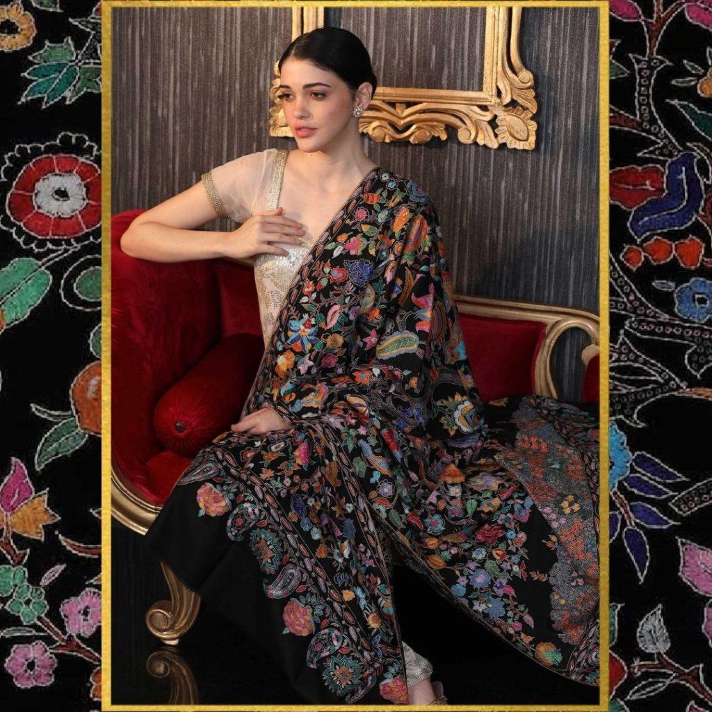 Tree of Life Hand Embroidered Pashmina Shawl