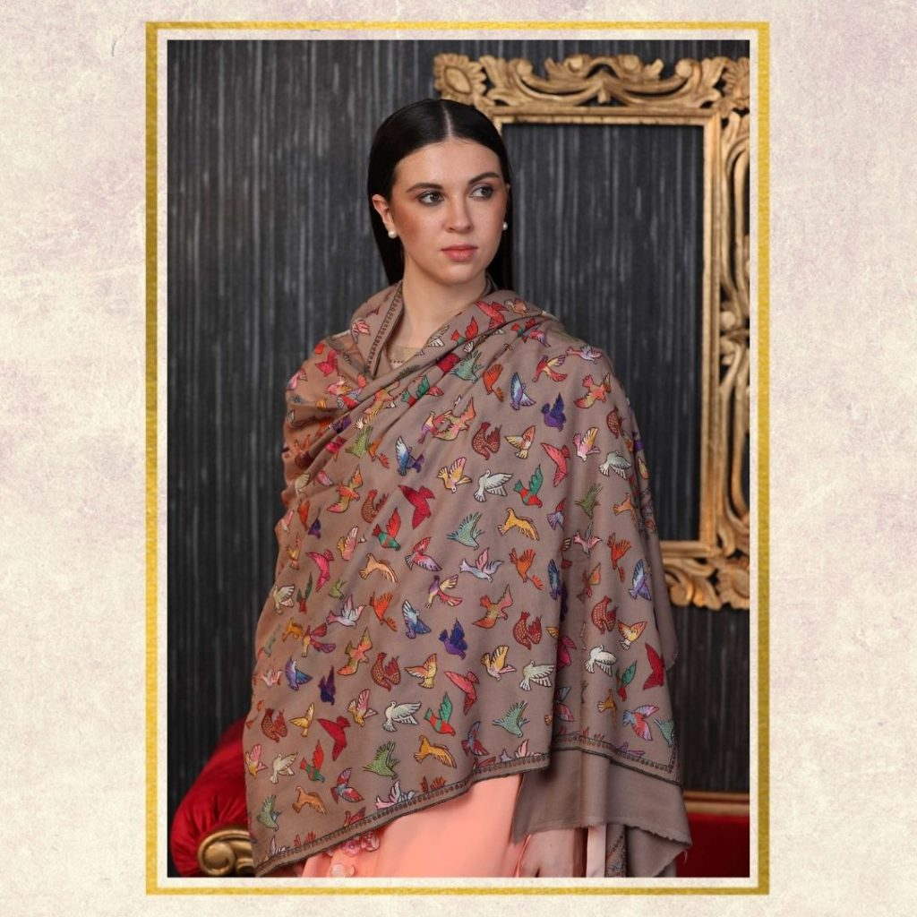 Personalized Gifts - Embroidered Pashmina