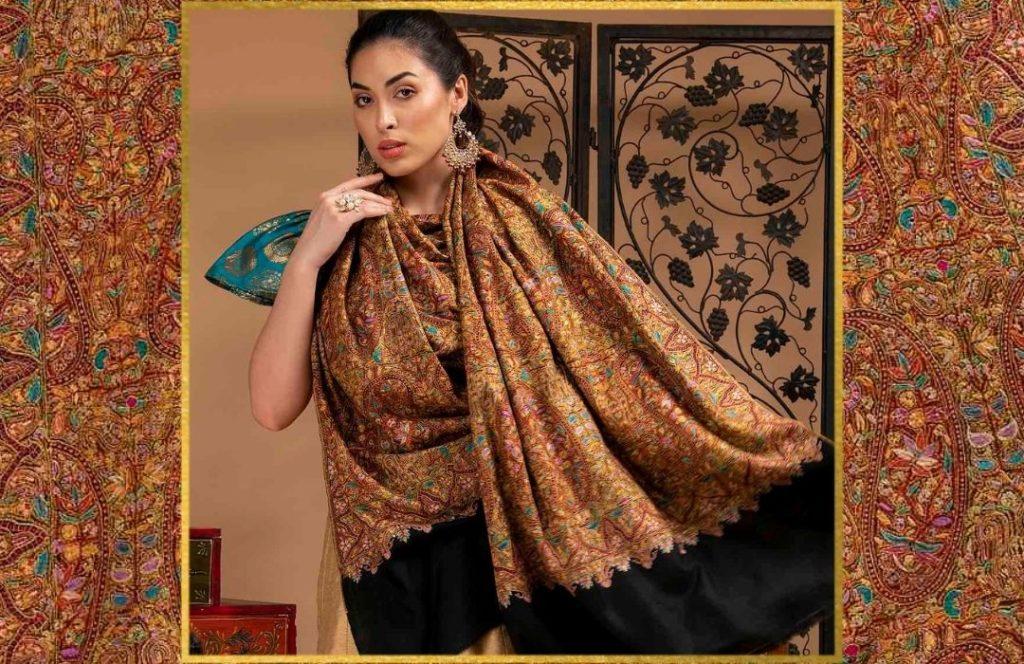 Luxury Gifting - Embroidered Pashmina Shawl
