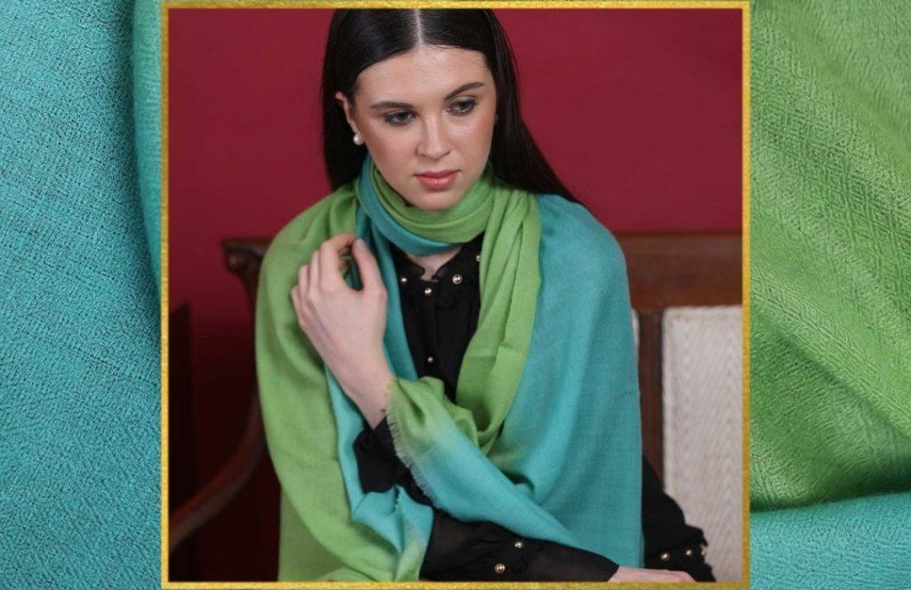Wedding Favors - Ombre Patterned Cashmere Wrap
